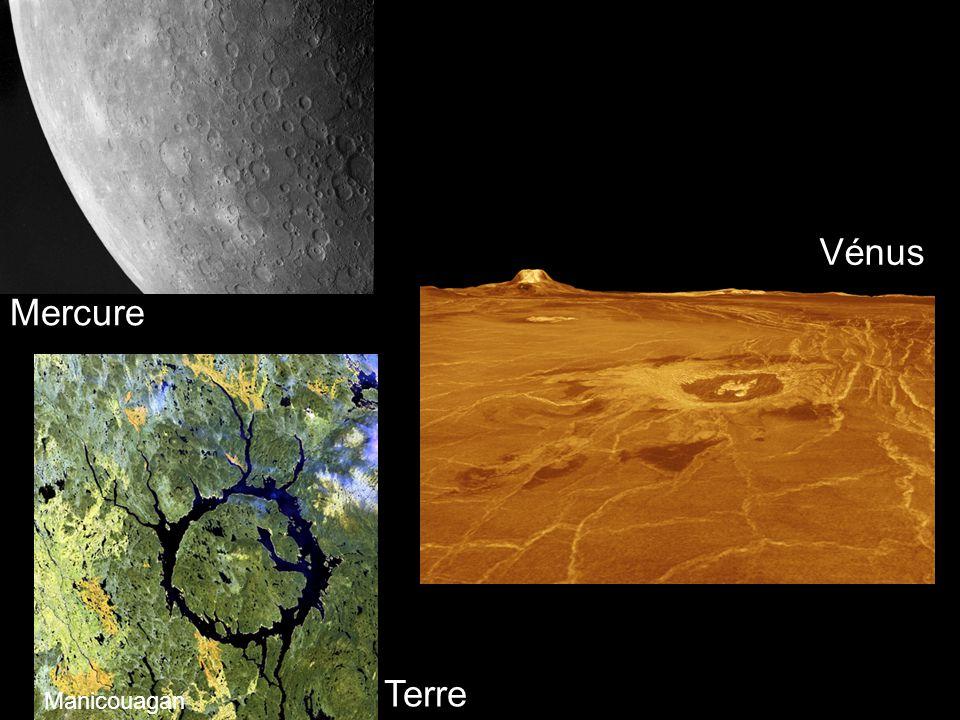 Mercure Vénus Manicouagan Terre