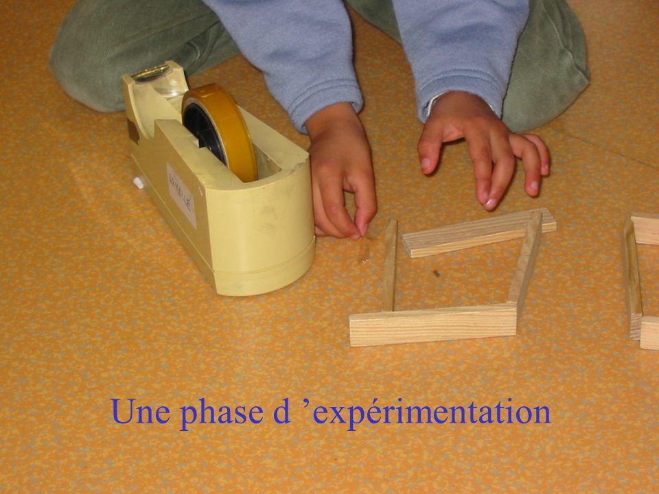 Une phase d expérimentation