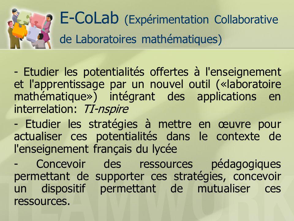 Points de convergence (1) Scénarii dusage et « fiche professeur », nécessaires à la mutualisation Différents objectifs, différentes formes et différents moyens de le mutualiser.
