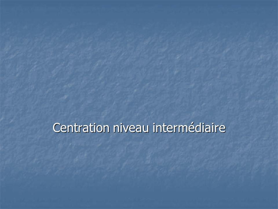 Centration niveau intermédiaire