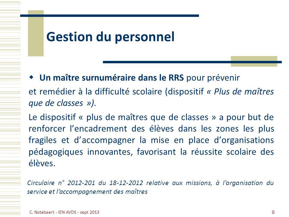 Gestion du personnel Un maître surnuméraire dans le RRS pour prévenir et remédier à la difficulté scolaire (dispositif « Plus de maîtres que de classe