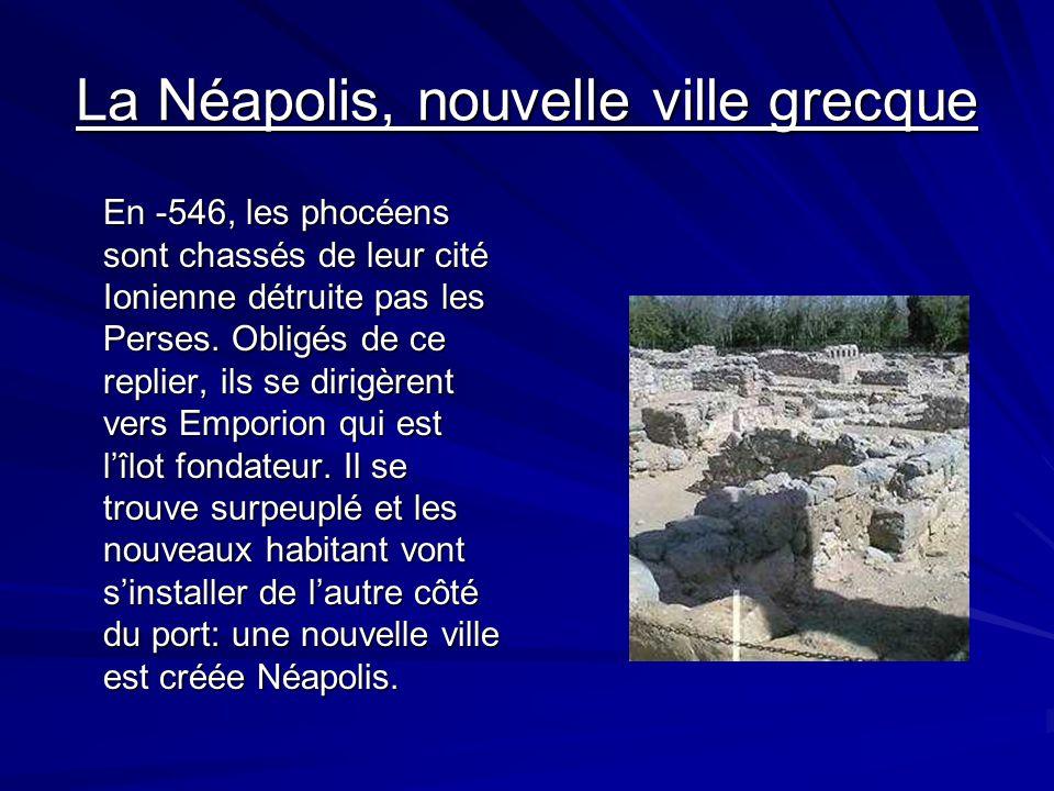 La Paléopolis, cité des fondateurs Les fondateurs phocéens choisissent de sétablir dans la 1° moitié du VI° siècle avant J-C sur ce qui était à lépoqu