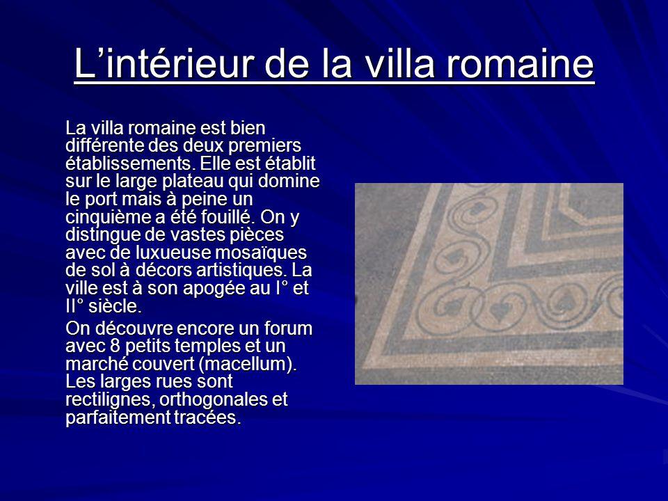 Lintérieur de la villa romaine Lenceinte romaine Lamphithéâtre