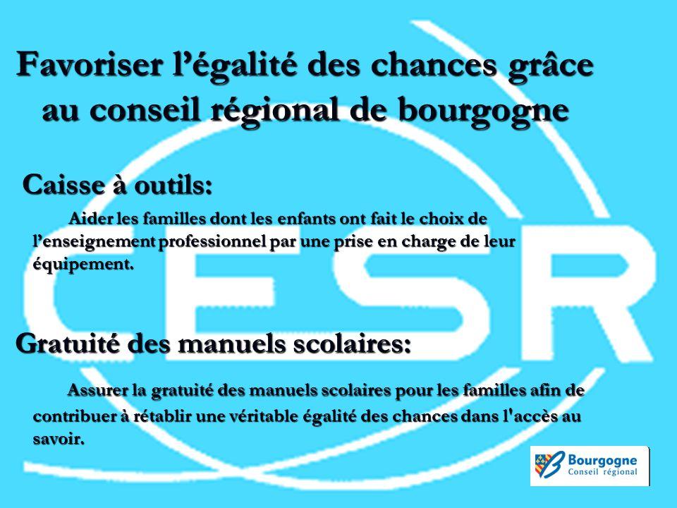 Permettre laccès à la culture et encourager les échanges internationaux Chéquier ACCESS Offrir aux jeunes bourguignons de nombreuses réductions dans les domaines de la culture, du sport et des loisirs dans la région.
