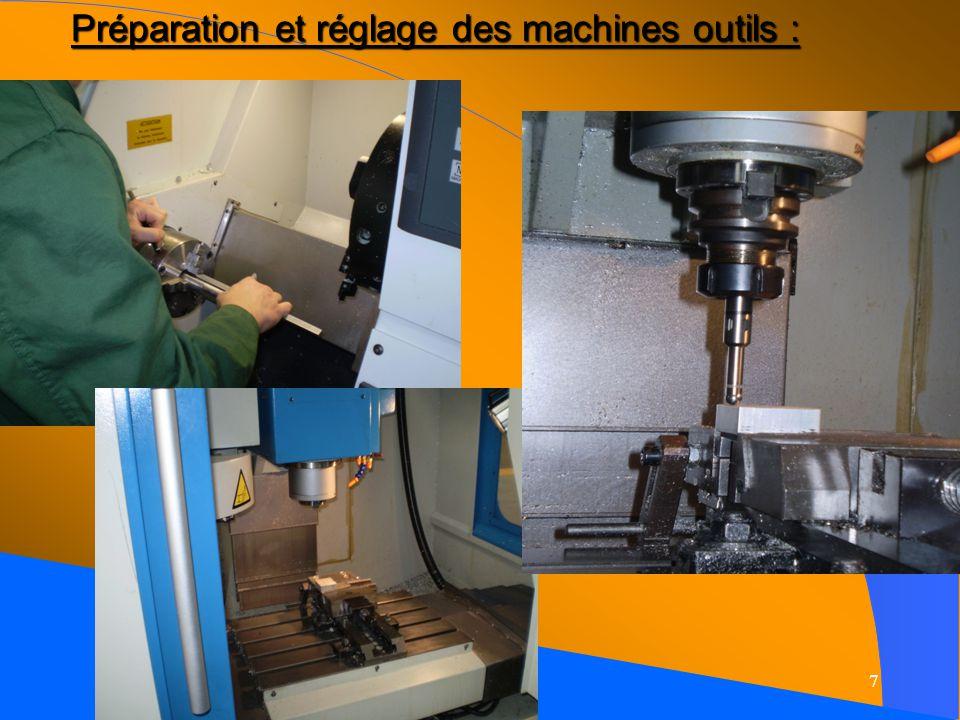 7 Préparation et réglage des machines outils :