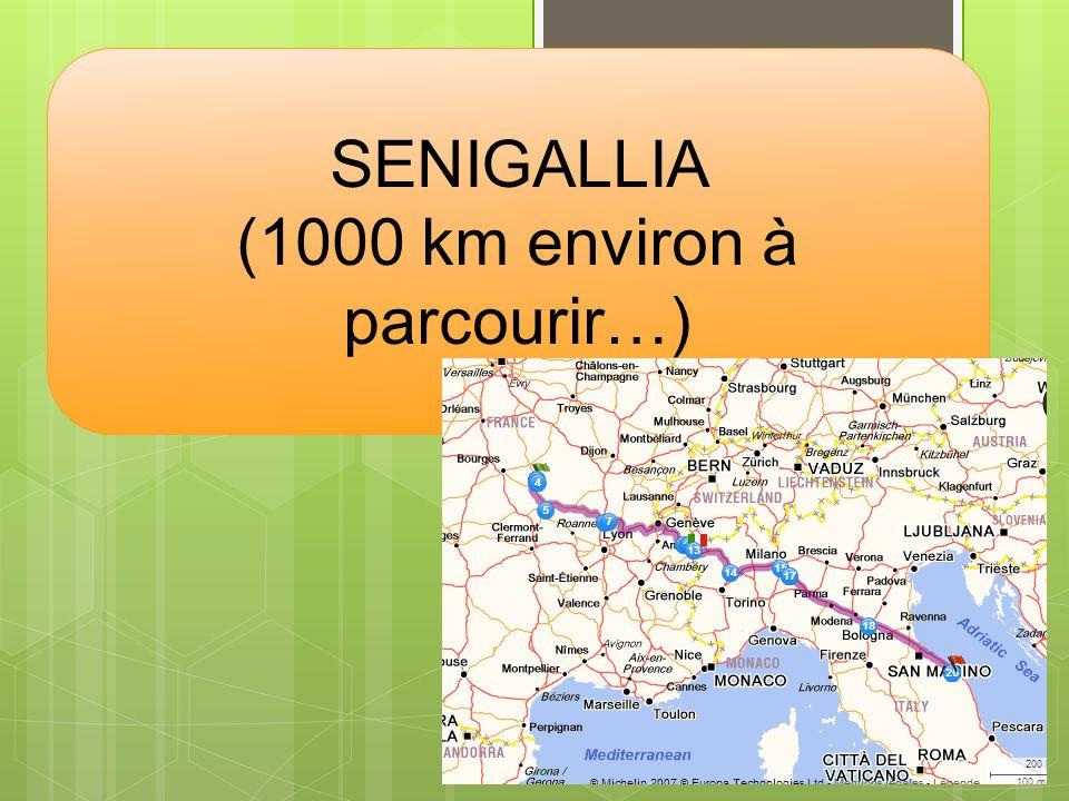SENIGALLIA (1000 km environ à parcourir…)