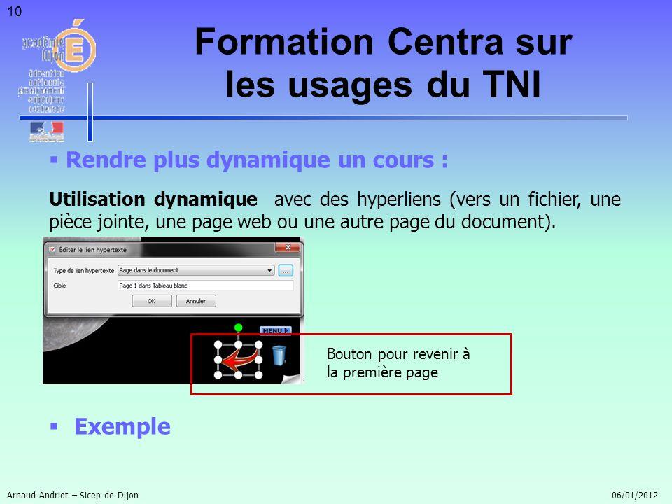 10 Rendre plus dynamique un cours : Utilisation dynamique avec des hyperliens (vers un fichier, une pièce jointe, une page web ou une autre page du do