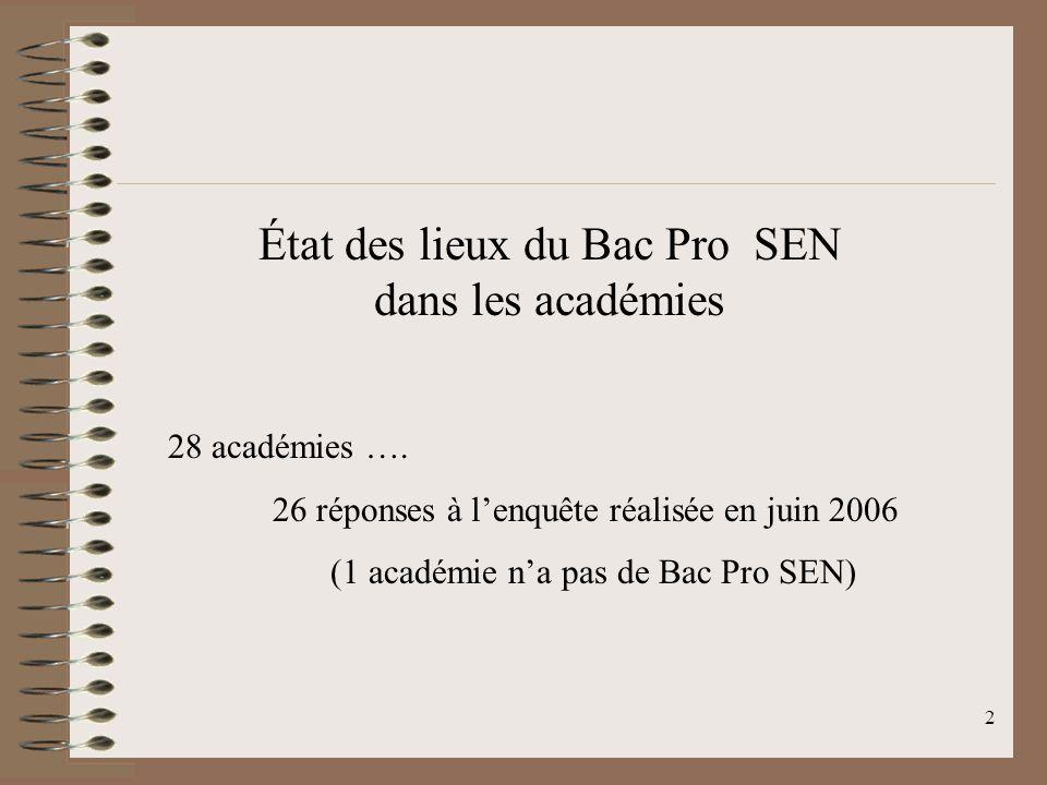 3 Création de ce Bac Pro SEN : BO N°22 du 02 juin 2005 BO N°24 du 15 juin 2006 Il nexiste quun seul Bac Pro SEN couvrant 6 champs professionnels : audiovisuel multimédia audiovisuel professionnel alarme sécurité télécommunications et réseaux électrodomestique électronique industrielle embarquée