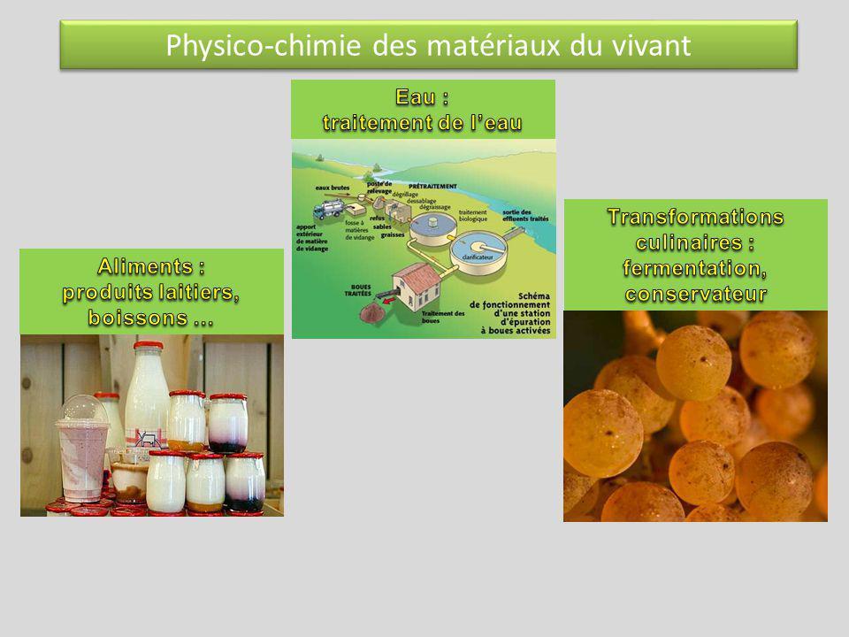 Physico-chimie des matériaux du vivant