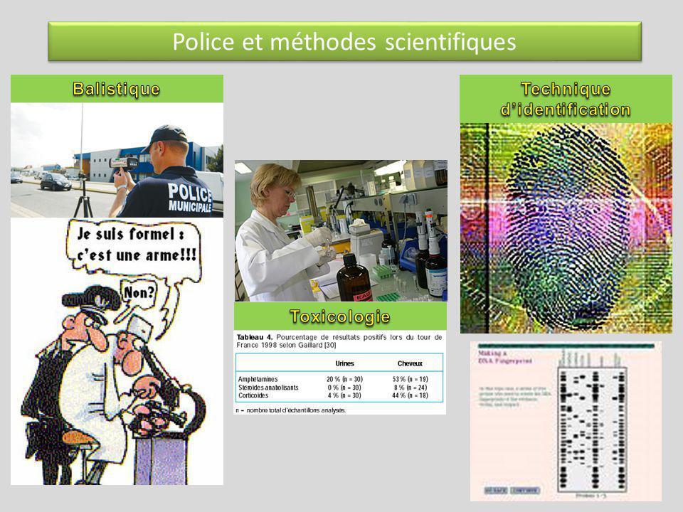 Police et méthodes scientifiques