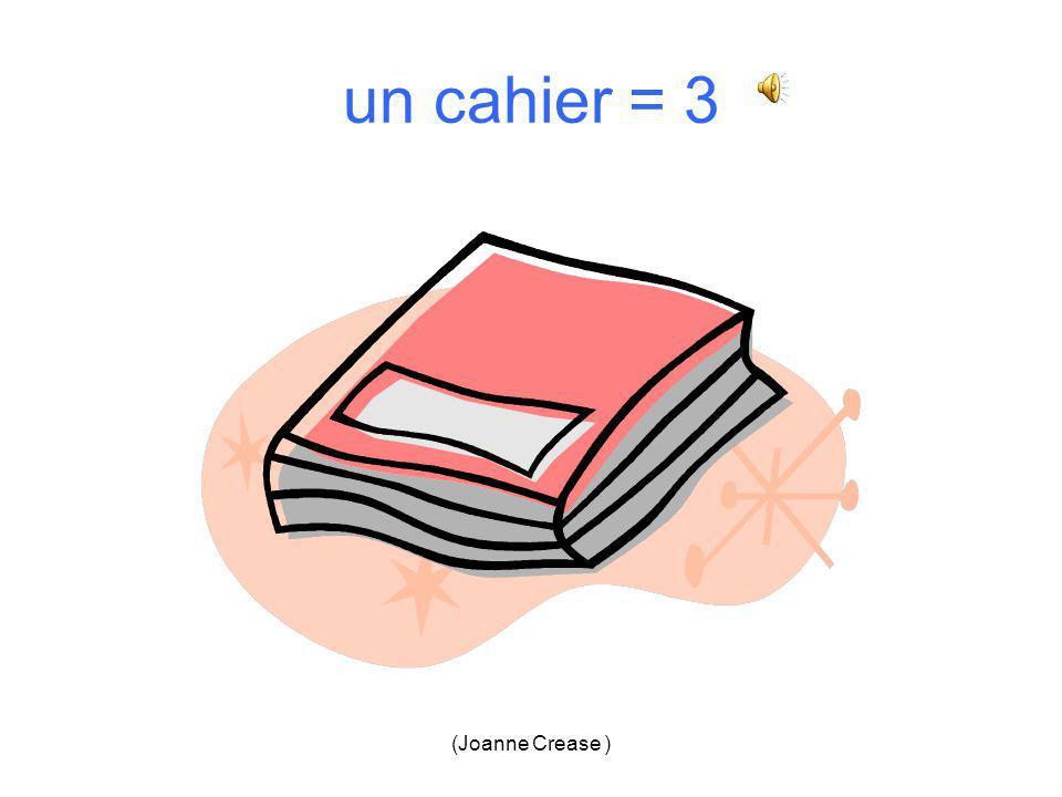 (Joanne Crease ) un cahier 1.2. 3.4.