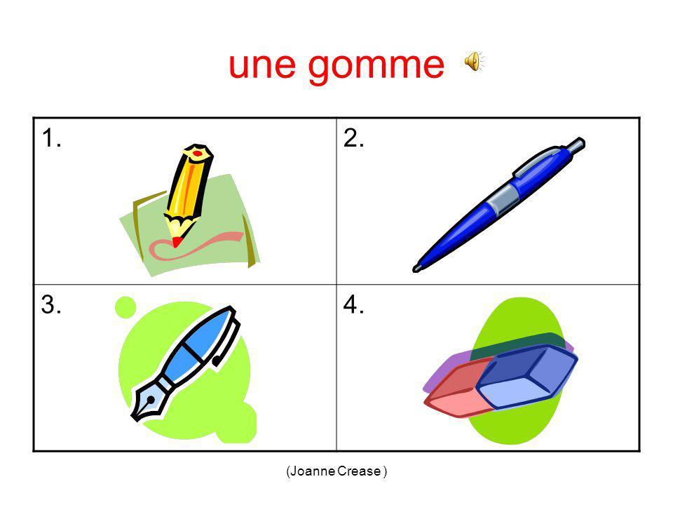 (Joanne Crease ) un cahier = 3