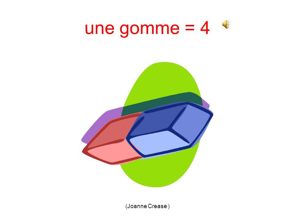 (Joanne Crease ) une gomme 1.2. 3.4.