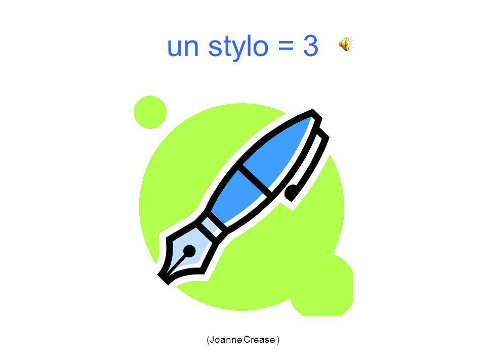 (Joanne Crease ) un stylo 1.2. 3.4.