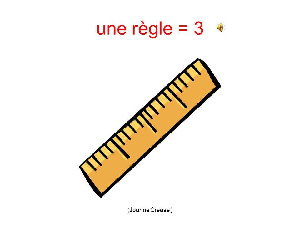 (Joanne Crease ) une règle 1.2. 3.4.