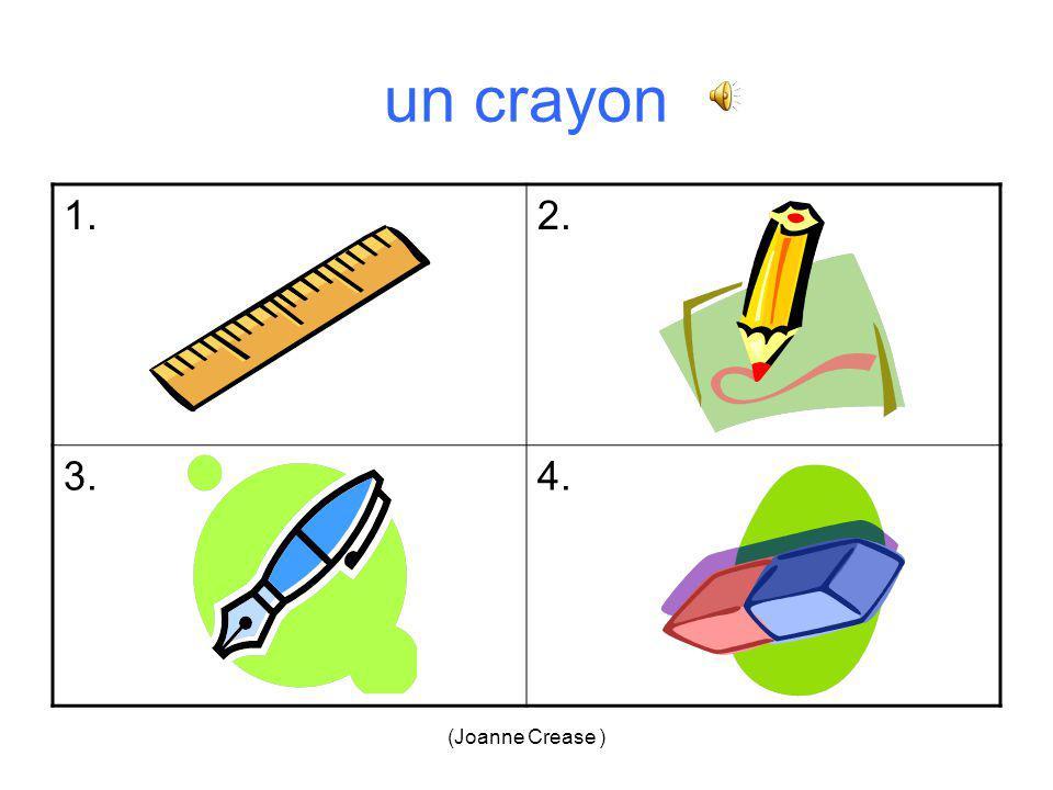 (Joanne Crease ) un bic = 1