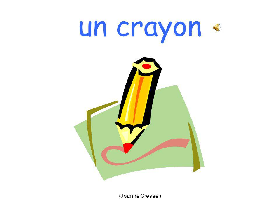(Joanne Crease ) une gomme = 4