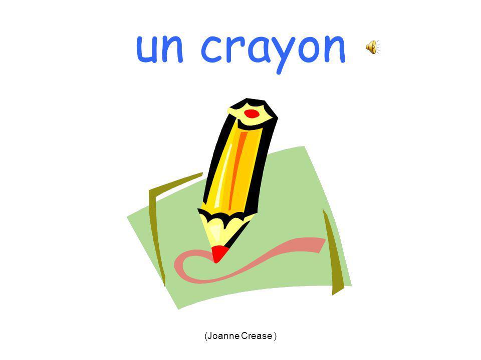 (Joanne Crease ) un crayon