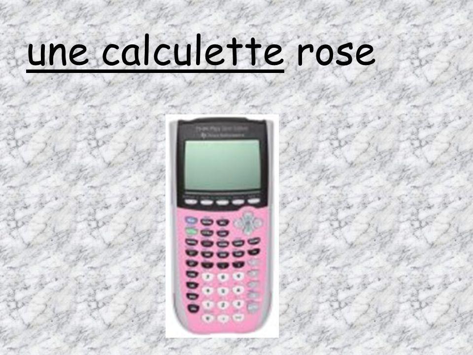 une calculette rose