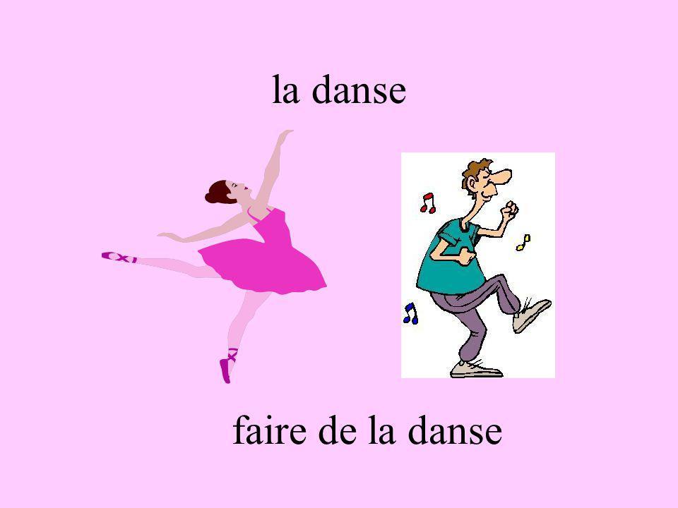 la danse faire de la danse