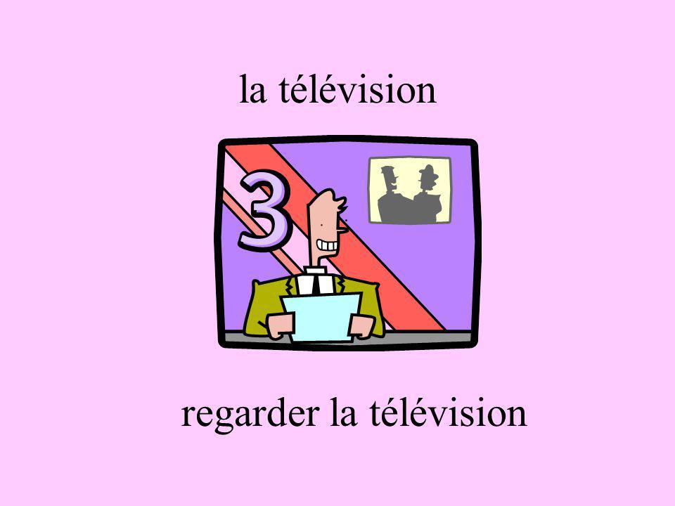 la télévision regarder la télévision