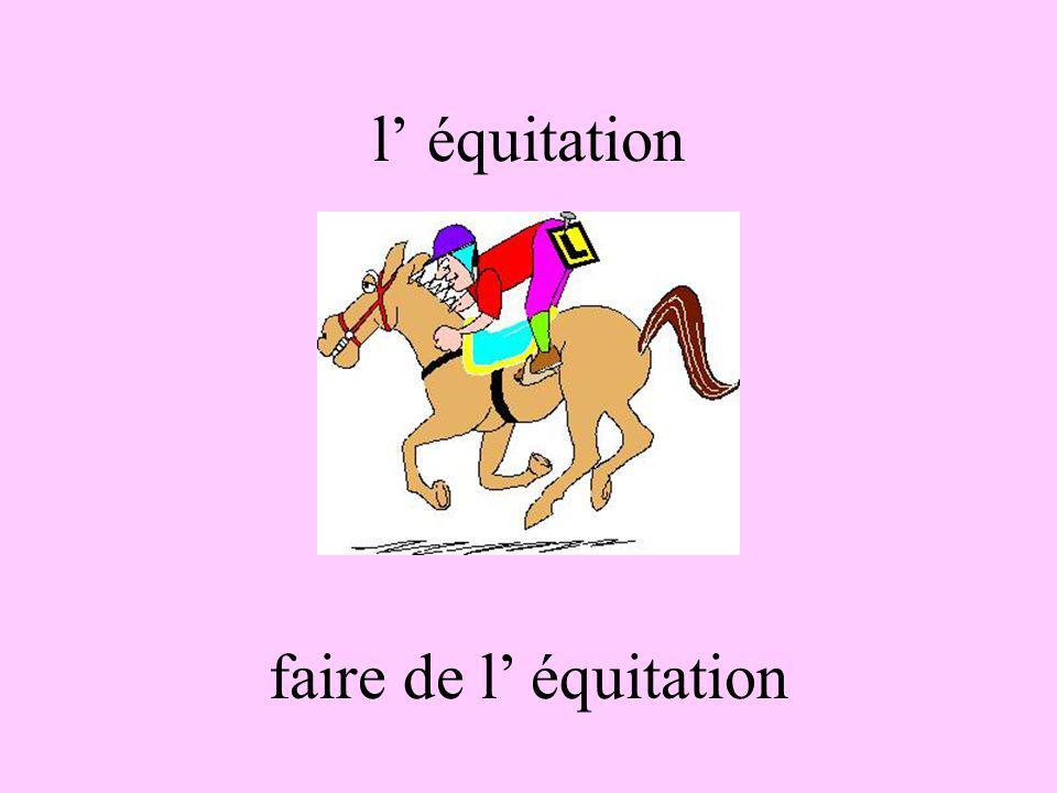 l équitation faire de l équitation