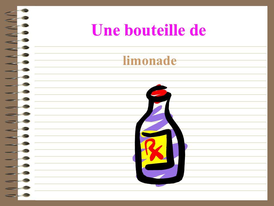 Une bouteille de limonade