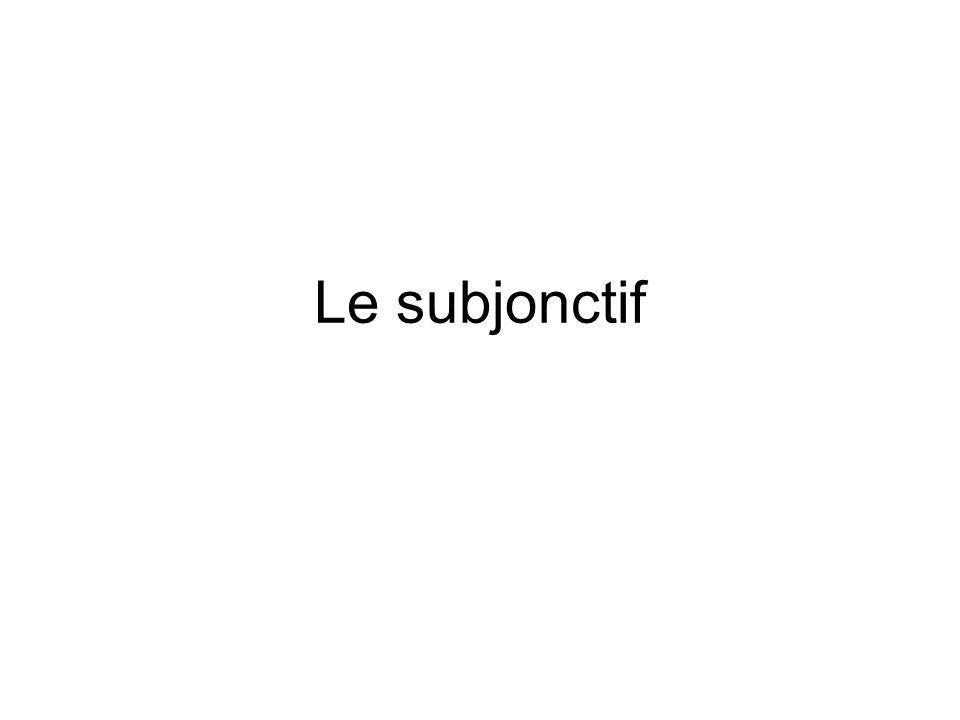 La formation du subjonctif présent 1.Prends la troisième personne plurielle du temps présent 2.Enlève le -ent 3.Ajoute les terminaisons: -e -es -e -ions -iez -ent