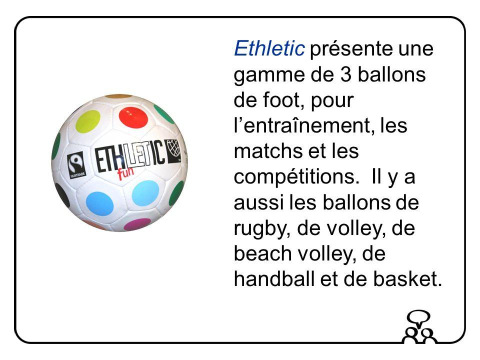 Ethletic présente une gamme de 3 ballons de foot, pour lentraînement, les matchs et les compétitions.