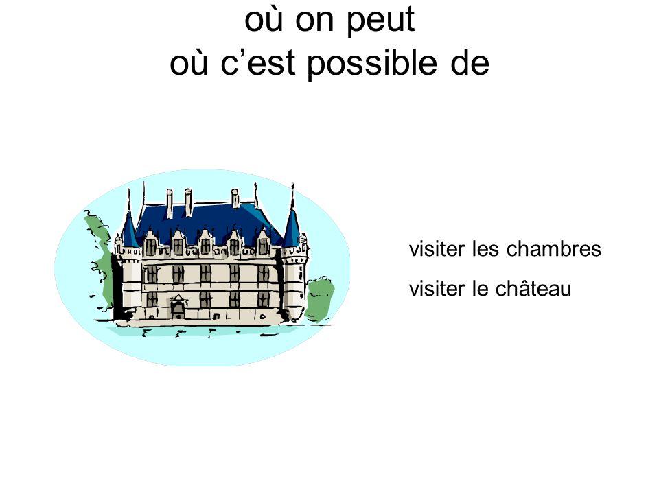où on peut où cest possible de visiter les chambres visiter le château