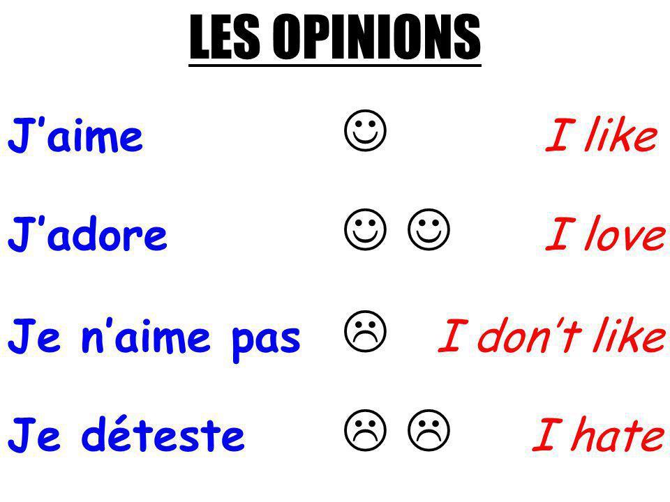 AIMES-TU LE SPORT? DO YOU LIKE SPORT?