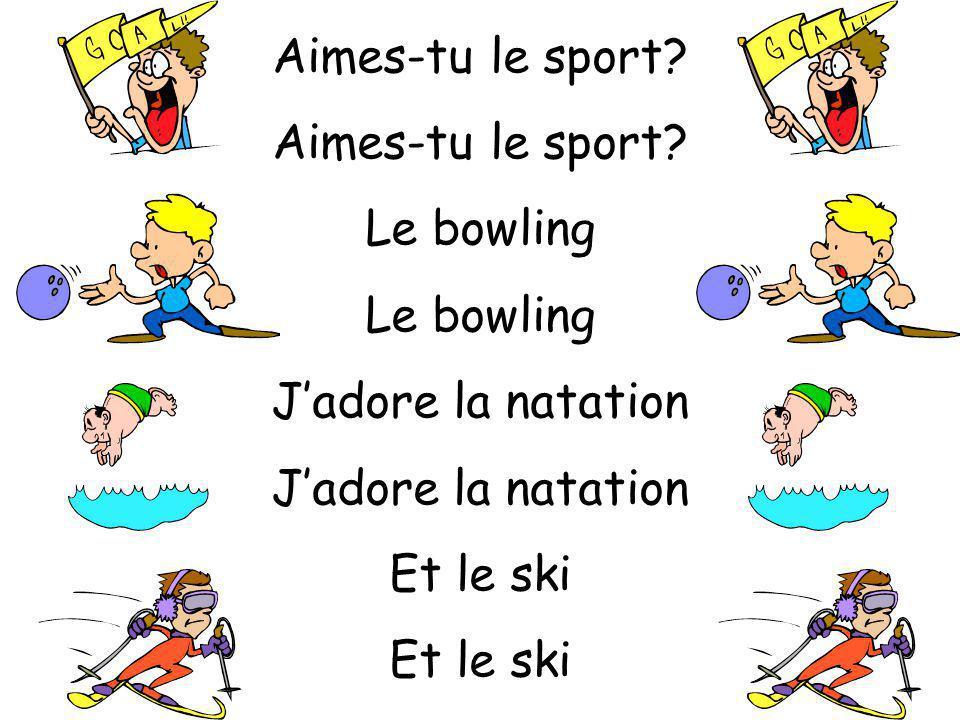 Aimes-tu le sport? Le rugby Jaime la musculation Et le foot