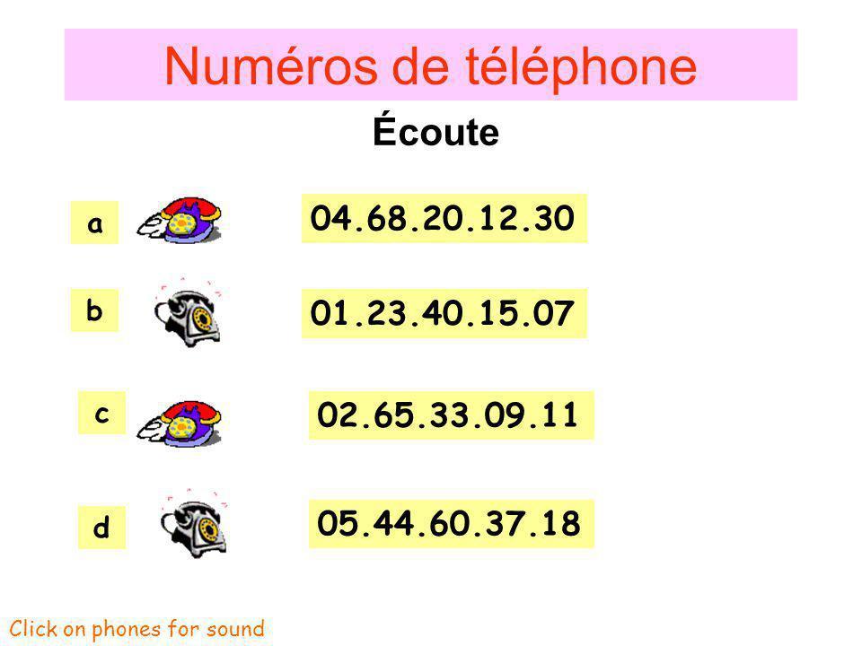 1.2.3. 4.5.6. 7.8.9. Mon numéro de téléphone, cest le
