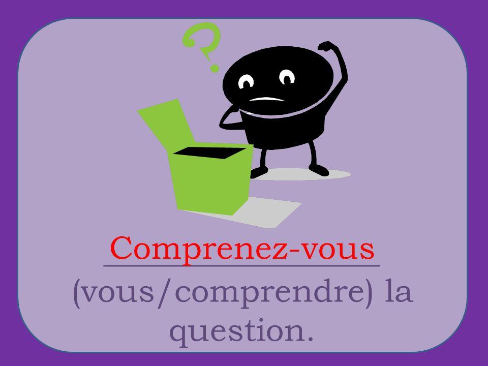 _________________ (vous/comprendre) la question. Comprenez-vous
