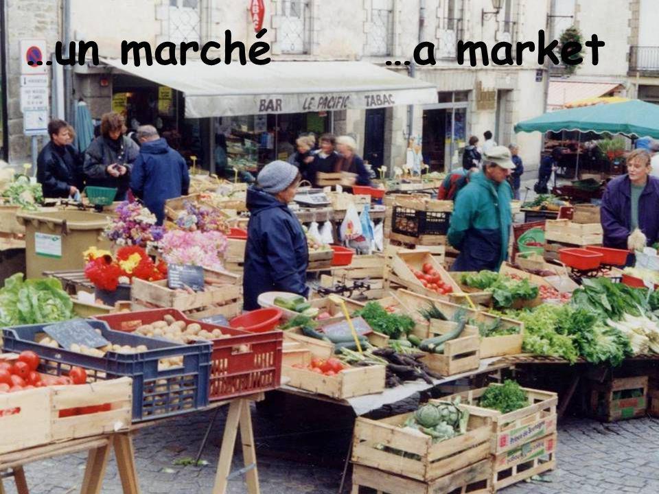 …un marché…a market