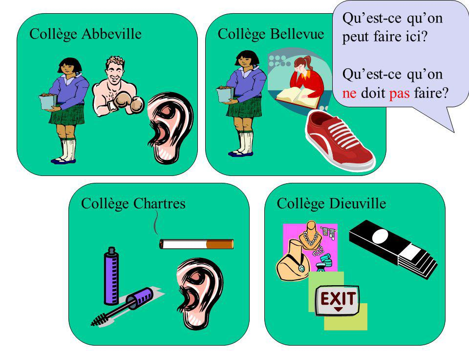 Collège Abbeville Collège ChartresCollège Dieuville Collège Bellevue Quest-ce quon peut faire ici.