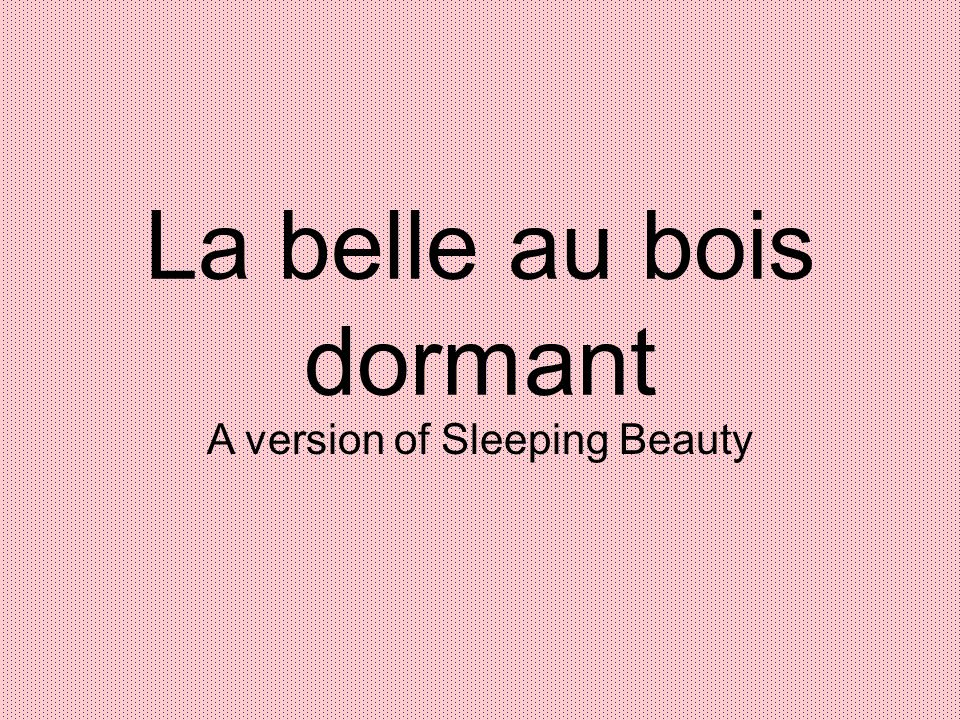 La belle au bois dormant A version of Sleeping Beauty