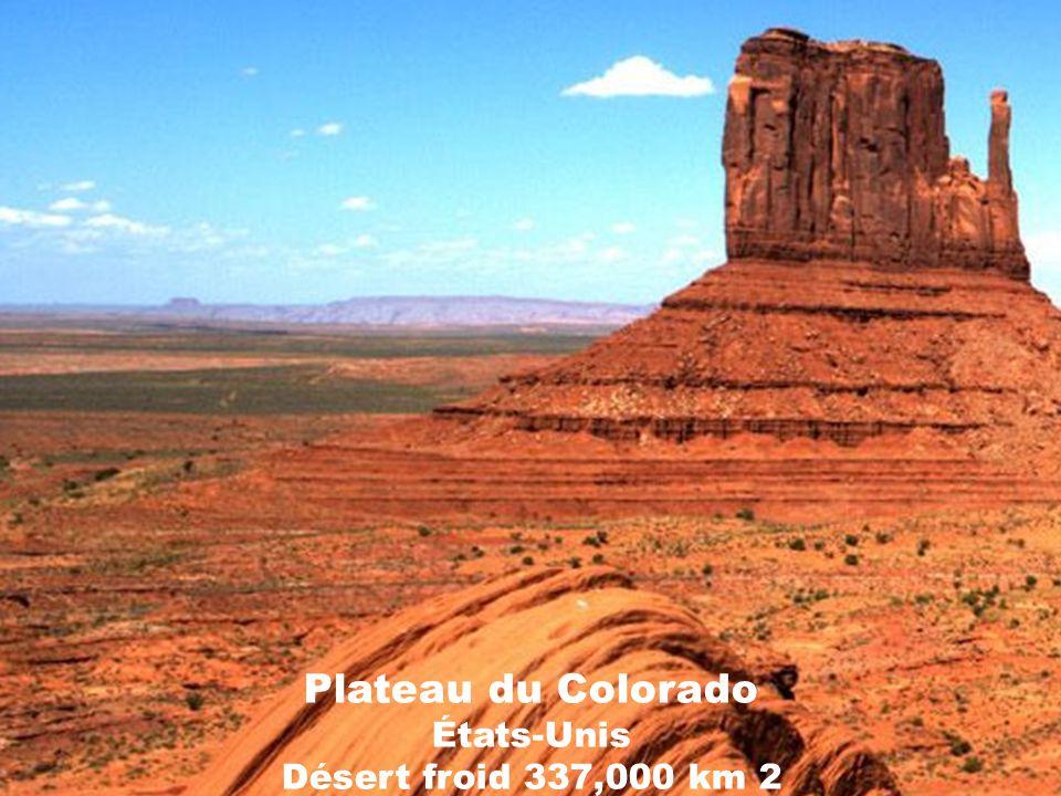 Désert du Karakoum Turkménistan Désert subtropical 350,000 km2