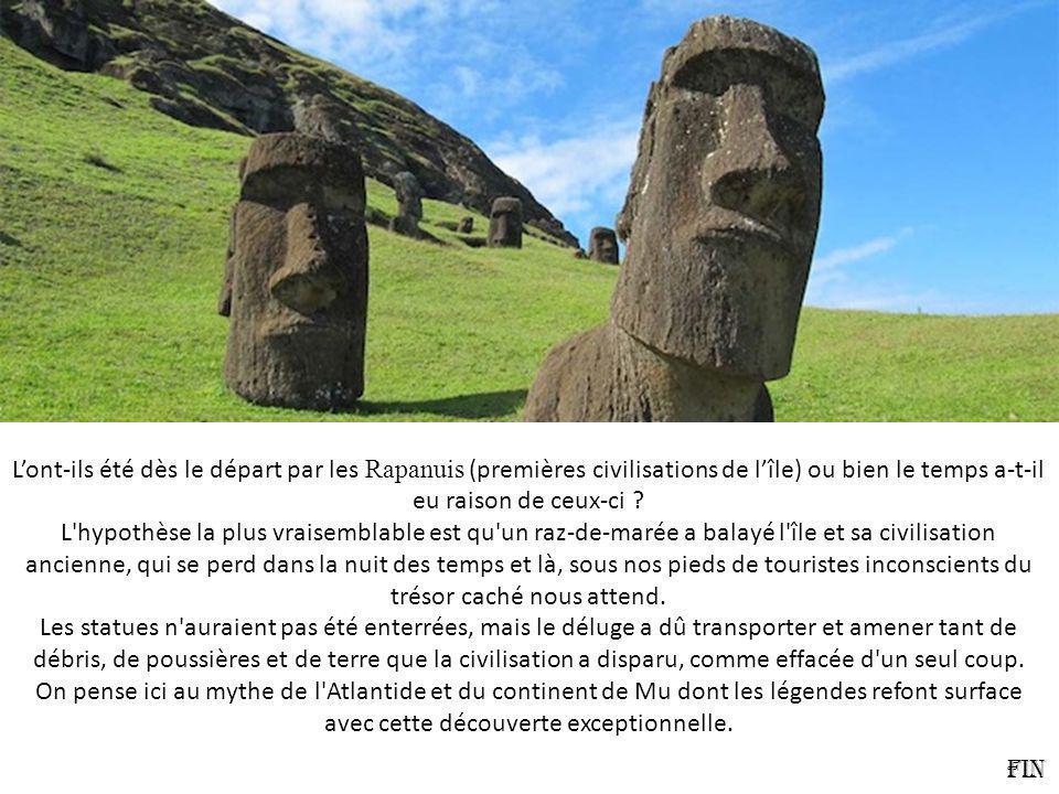 Lont-ils été dès le départ par les Rapanuis (premières civilisations de lîle) ou bien le temps a-t-il eu raison de ceux-ci .