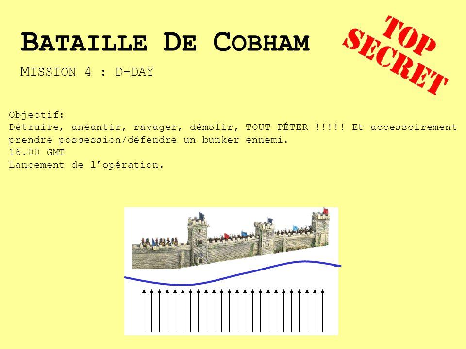 M ISSION 4 : D-DAY Objectif: Détruire, anéantir, ravager, démolir, TOUT PÉTER !!!!.
