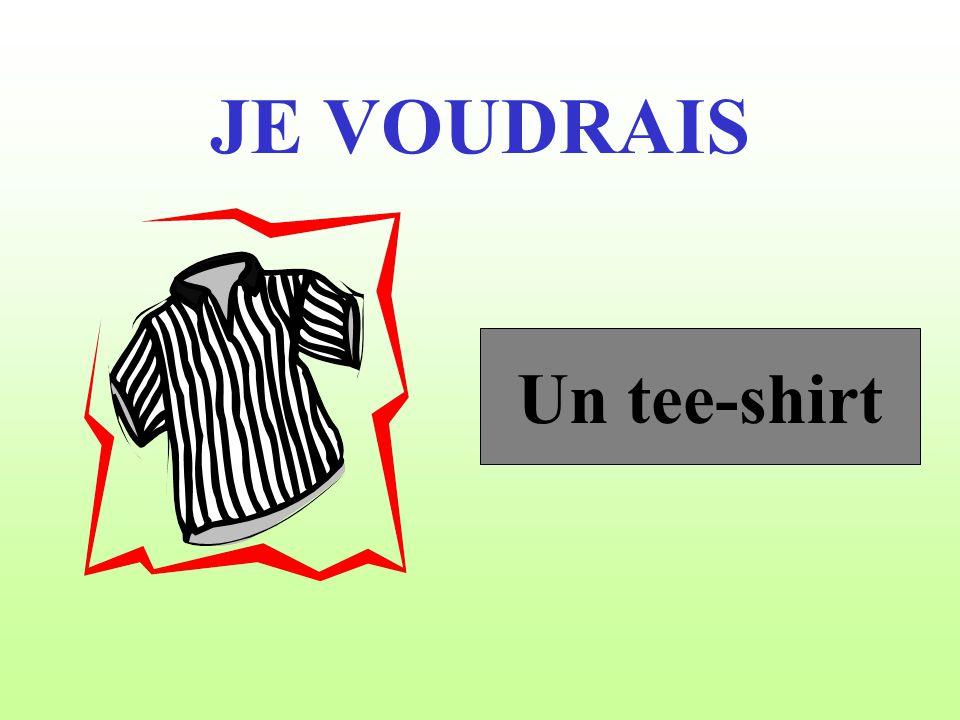 JE VOUDRAIS Un tee-shirt