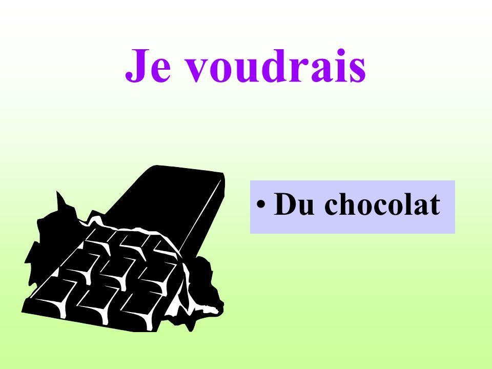 Je voudrais Du chocolat