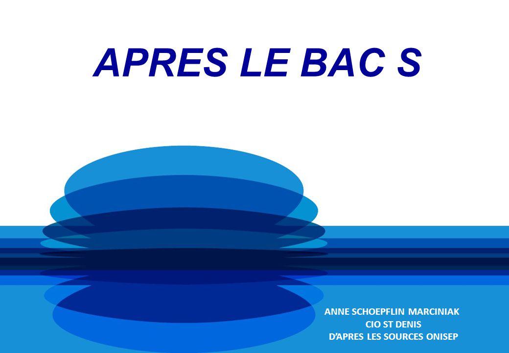 APRES LE BAC S ANNE SCHOEPFLIN MARCINIAK CIO ST DENIS DAPRES LES SOURCES ONISEP