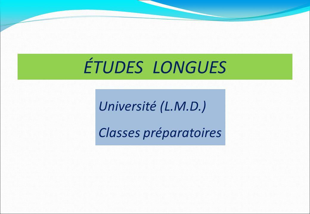 Université (L.M.D.) Classes préparatoires ÉTUDES LONGUES