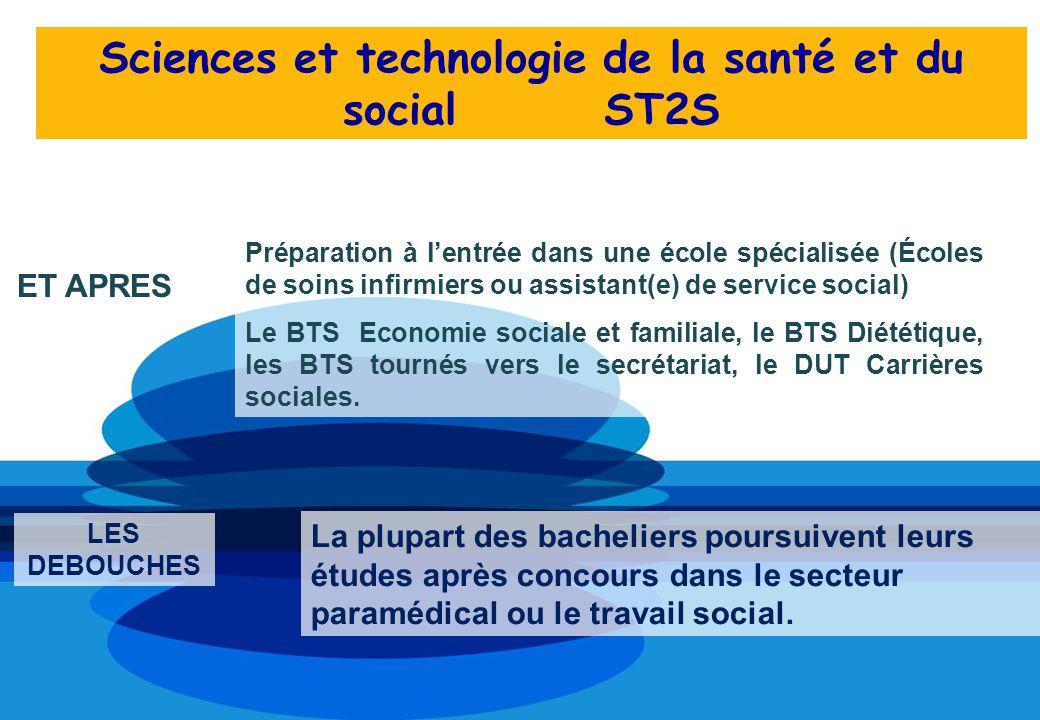 Préparation à lentrée dans une école spécialisée (Écoles de soins infirmiers ou assistant(e) de service social) Le BTS Economie sociale et familiale,