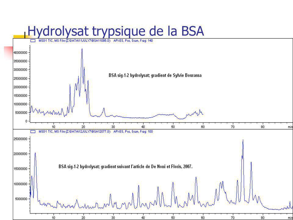 Hydrolysat trypsique de la BSA