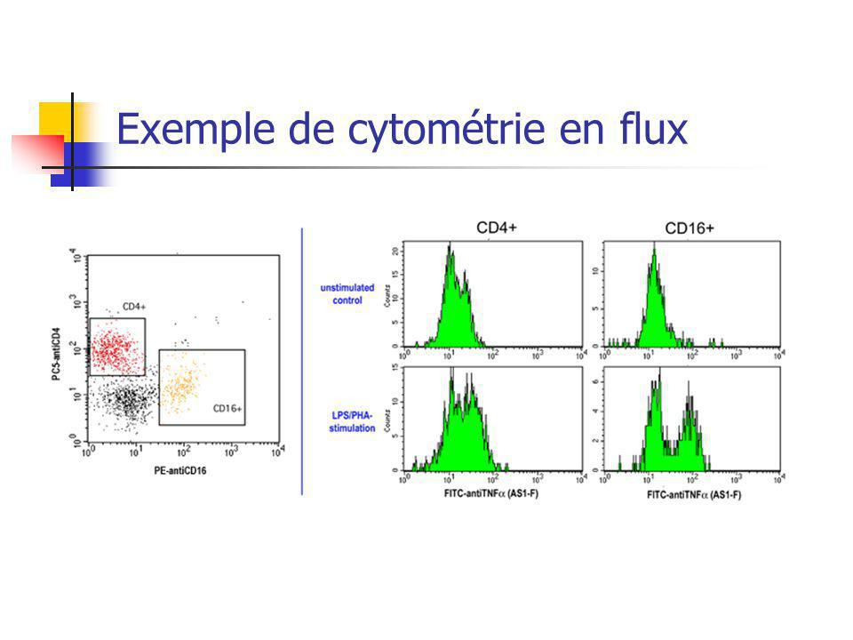 Exemple de cytométrie en flux