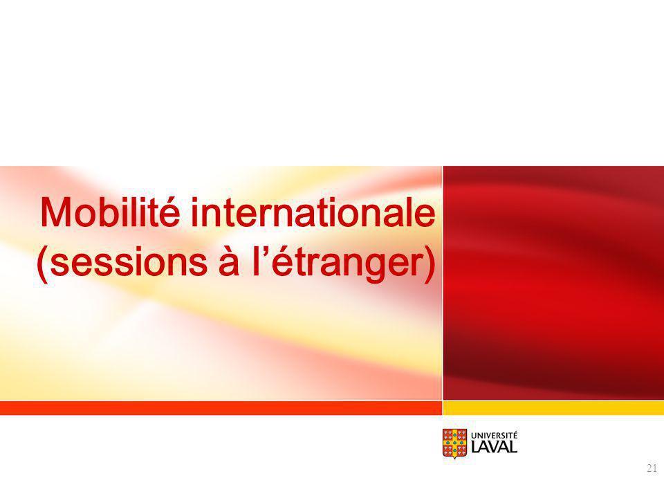 Mobilité internationale (sessions à létranger) 21