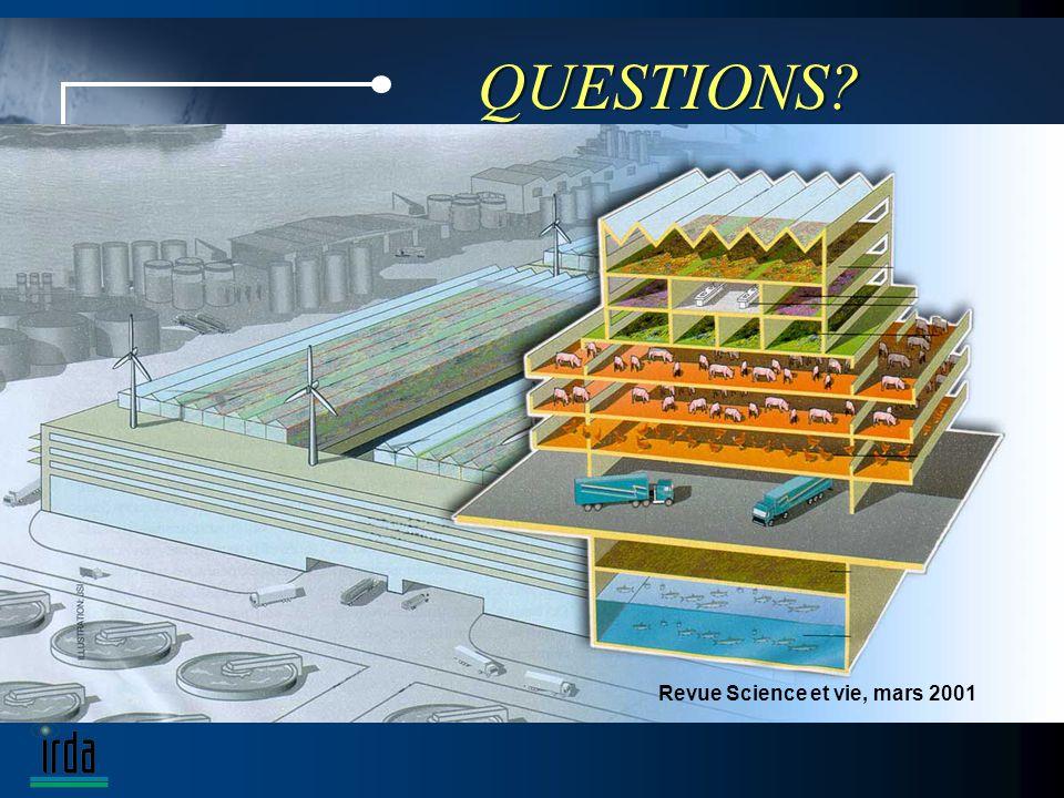 QUESTIONS Revue Science et vie, mars 2001
