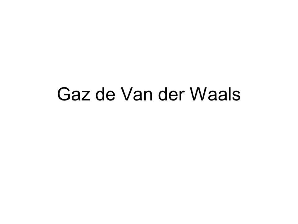 Gaz de Van der Waals